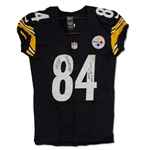 Antonio Brown Photo Matched 1/3/2015 Pittsburgh Steelers Game Worn & Signed Jersey - AFC Wildcard Playoff Game (JSA/MEARS A10)