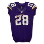 Adrian Peterson Photo Matched 11/7/2013 Minnesota Vikings Game Worn & Signed Home Jersey - 2 TDs! (MEARS A10/JSA)