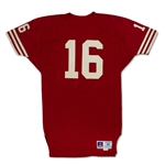 Joe Montana 1987-89 San Francisco 49ers Game Used Home Jersey - 89 FedEx Slip from 49ers, Celtics Former CFO LOA, Evident Use (MEARS A10)