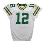 Aaron Rodgers 11/28/2016 Photo Matched Green Bay Packers Game Worn Road Jersey (Fanatics/Meigray LOA)