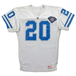 Barry Sanders Photo Matched 1994 Detroit Lions Game Used & Signed Road Jersey - 2 Games! Repairs! (Lions/TriStar/RGU LOA)