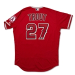 Mike Trout Photo Matched 6/15/2016 Los Angeles Angels Game Worn & Signed Home Jersey - DIRTY! MVP Season! (MEARS A10/Anderson/MLB Auth/PSA)