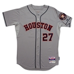 Jose Altuve 9/27/2014 Houston Astros Game Worn Road Jersey vs Mets (MLB Auth)