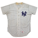 "Jim ""Catfish"" Hunter Photo Matched 1977 World Champion New York Yankees Game Worn Jersey"
