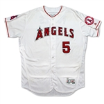 Albert Pujols Photo Matched 8/30/16 Game Worn & Signed Los Angeles Angels Home Jersey (Resolution/MEARS A10/MLB Auth)