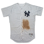 Miguel Andujar 5/30/2018 New York Yankees Game Worn & Signed Pinstripe Jersey - Rookie Season, Dirty! (Steiner LOA)