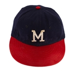 Warren Spahn 1962 Milwaukee Braves Game Worn Baseball Cap (MEARS/Hunt/Spahns Brother LOA)