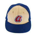 Hank Aaron 1973 Atlanta Braves Game Worn Baseball Cap (MEARS)