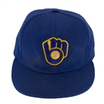 Robin Yount 1992 Milwaukee Brewers Game Worn, Signed & Inscribed Cap (TriStar/MEARS LOA)