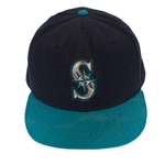 Ken Griffey Jr. 1990s Game Worn & Signed Seattle Mariners Cap (HA/JSA)