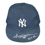 "Reggie Jackson 1978-81 New York Yankees Game Worn & Signed ""563 HR"" Cap (MEARS/JSA LOA)"