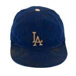 Don Drysdale Circa 1958 Los Angeles Dodgers Game Worn Baseball Cap (MEARS/Drysdale Family LOA)