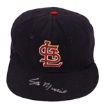 Stan Musial Early 1960s Game Worn & Signed St. Louis Cardinals Cap - Family LOA (MEARS/HA/JSA/PSA)