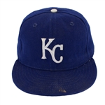 George Brett 1980s Game Worn Kansas City Royals Cap (PSA/DNA LOA)