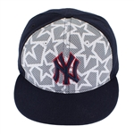 Alex Rodriguez 2016 Memorial Day Stars and Stripes Game Worn Baseball Cap (Steiner/MLB Auth)