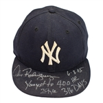 Alex Rodriguez HOMERUN #400 2005 New York Yankees Game Worn, Signed & Inscribed Batting Glove & Cap (A-Rod LOA)