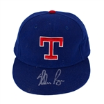 Nolan Ryan 1980s Texas Rangers Game Worn & Signed Cap (JSA)