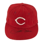 Pete Rose 1960s Cincinnati Reds Game Used & Signed Cap (JSA)