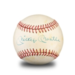 Roger Maris & Mickey Mantle Signed Rawlings Official Size Baseball - Great Signatures (PSA/DNA LOA)