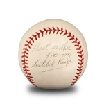 "Satchel Paige ""Best Wishes"" Signed & Inscribed ""Hall of Fame 1971"" Rawlings Official League Baseball (PSA/DNA LOA)"