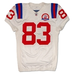 Wes Welker Photo Matched 10/11/2009 New England Patriots Game Worn AFL 50th Anniv. Throwback Road Jersey (PSA/DNA)