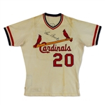 Lou Brock Photo Matched 1978 St. Louis Cardinals Game Worn & Signed Home Jersey (JSA/GF/PM&G 10)