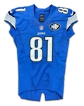 "Calvin Johnson 10/5/14 Detroit Lions Game Worn, Signed & ""Megatron"" Inscribed Jersey - Photo Matched (Athletes Club Co, RGU) WCF Patch"